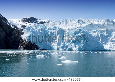 Hubbard Glacier in Seward, Alaska - stock photo