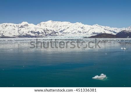 Hubbard Glacier in Yakutat Bay, Alaska. - stock photo