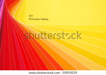 Hue of red and yellow - stock photo