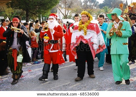 HUELVA - JANUARY 5: Three Kings, January 5th each year sees the celebration of traditional Kings Day parade, as Caspar, Balthazar and Melchior, january 5, 2011 in Huelva, Andalusia, Spain - stock photo