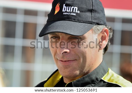 HUESCAR, SPAIN - MAR 18 : Spanish co driver Lucas Cruz during the Rally Baja Andalucia, on Mar 18, 2012 in Granada, Spain