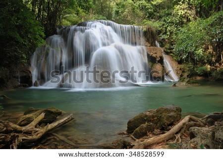 Huey Mae Gamin waterfall national park,Thailand.