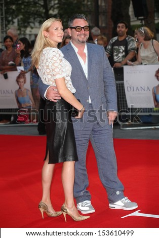 Huey Morgan and Rebecca Morgan arriving for the Diana World Premiere, Odeon Leicester Square, London. 05/09/2013