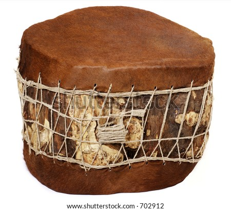 Huge base drum - stock photo