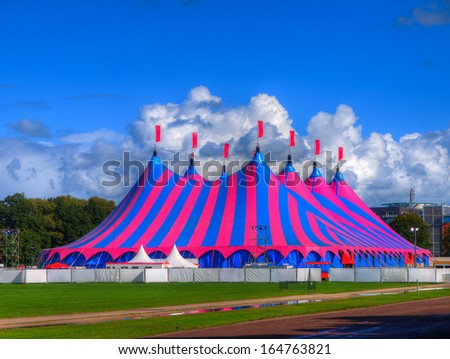 Huge Big Top Circus Tent Built up for a Music Festival on a Sunny Day & Circus Tent Stock Images Royalty-Free Images u0026 Vectors | Shutterstock