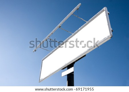 Huge blank billboard against blue sky for your advertisement