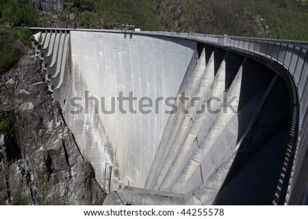 huge dam - stock photo