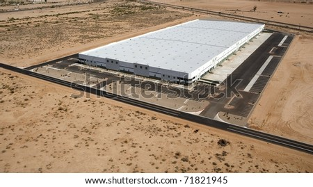 Huge distribution center aerial