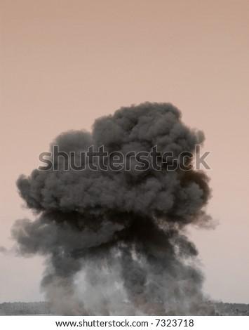 Huge Explosion or Fireball - stock photo