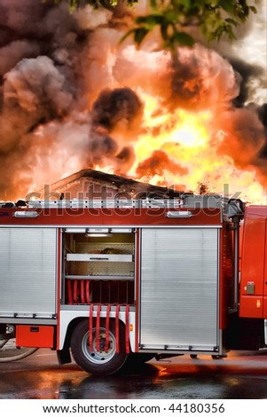 Huge fire - stock photo