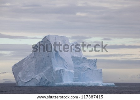 Huge Iceberg floating in the Drake Passage, Antarctica - stock photo