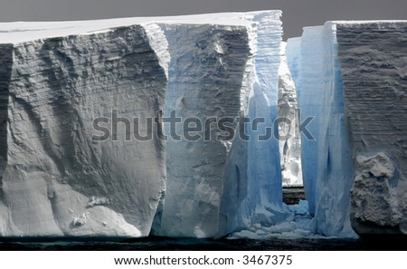 Huge icebergs - stock photo