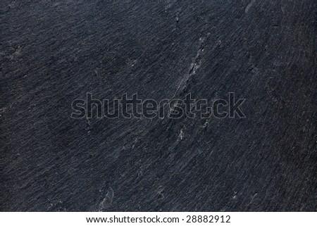 huge image of natural black slate texture background - stock photo