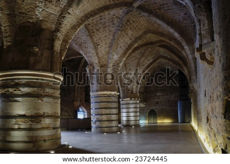 Huge Knight hall in Acre - Israel