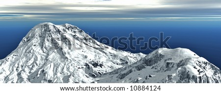 huge mountain landscape 1 - stock photo