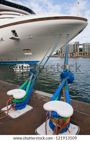 Huge passenger ship at the port of Sydney, Australia - stock photo