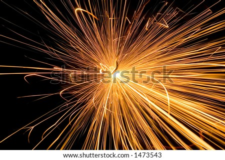 HUGE power electric spark - stock photo