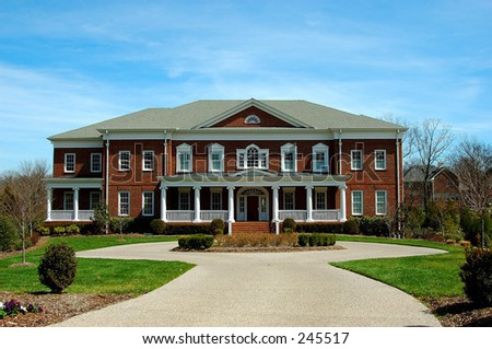 Huge Suburban House - stock photo