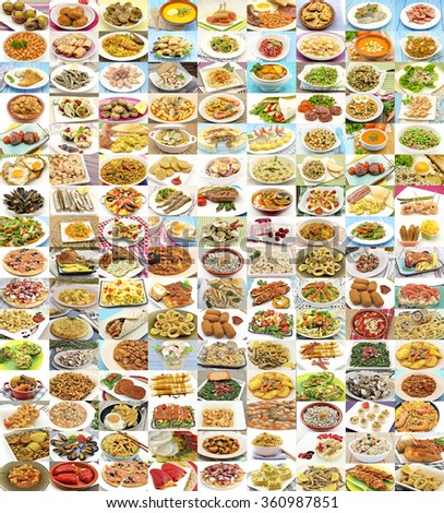 Huge variety of different dishes - stock photo