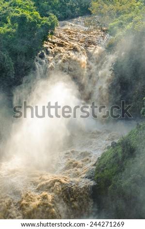 Huge waterfall of Ethiopia - stock photo