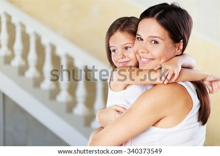 Hugging. - stock photo