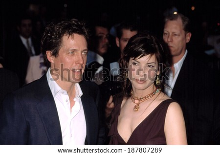 Hugh Grant and Sandra Bullock at premiere of MURDER BY NUMBERS, NY 4/16/2002