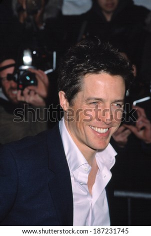 Hugh Grant at the NYC premiere of BRIDGET JONES'S DIARY, 4/2/2001
