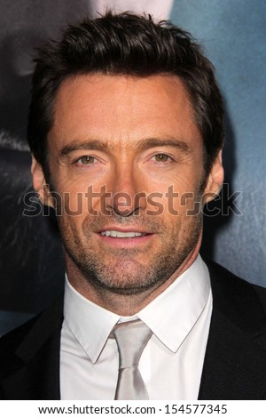 "Hugh Jackman at the ""Prisoners"" World Premiere, Academy of Motion Picture Arts and Sciences, Beverly Hills, CA 09-12-13 - stock photo"