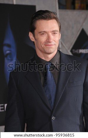 "HUGH JACKMAN at the world premiere, in Hollywood, of his new movie ""The Prestige"". October 17, 2006  Los Angeles, CA Picture: Paul Smith / Featureflash - stock photo"
