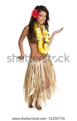 Hula Girl - stock photo