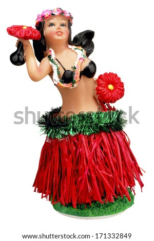 Hula Girl Statue - stock photo