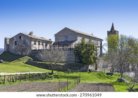 Hum in Istria, Croatia, the smallest town in the world - stock photo