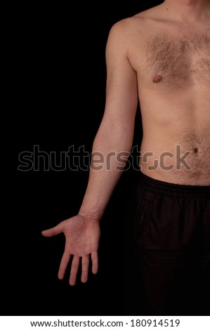 Human anatomy series: arm - stock photo