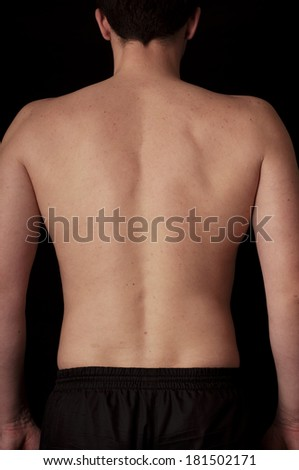 Human anatomy series: back - stock photo