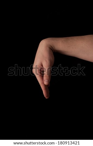 Human anatomy series: bent wrist - stock photo
