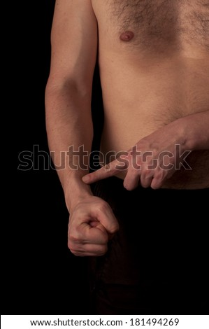 Human anatomy series: m. brachioradialis - stock photo