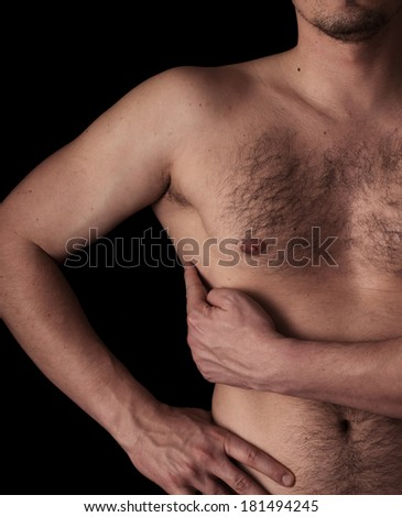 Human anatomy series: m. serratus anterior - stock photo