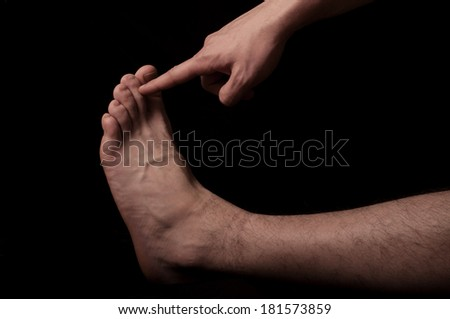 Human anatomy series: toes  - stock photo