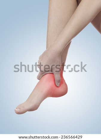 Young Man Foot Ankle Heel Pain Stock Photo 265858031 ...