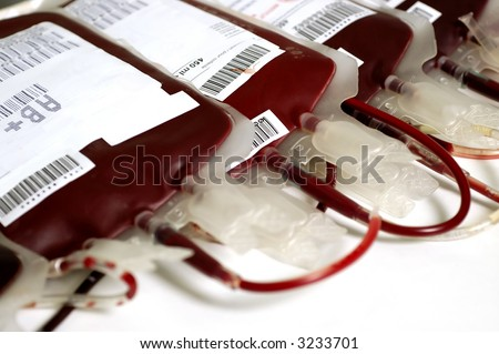 Human blood in storage - stock photo