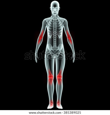 Human Body Joint Pains - stock photo
