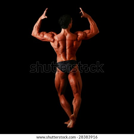 Human body of a man anatomy, isolated on a black background, please see some of my other parts of a body images: