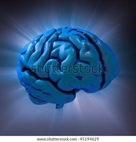 Human brain abstract - stock photo