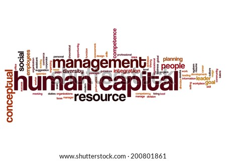 Human capital concept word cloud background - stock photo