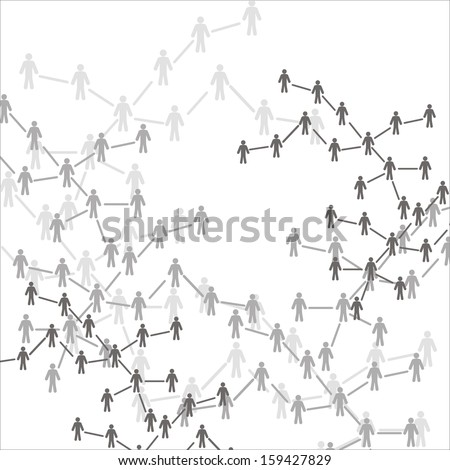 Human  connection - stock photo