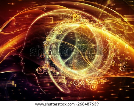 Human Curve series. Composition of human lines and abstract graphic elements suitable as a backdrop for the projects on mind, human spirit, poetry, inspiration and philosophy - stock photo