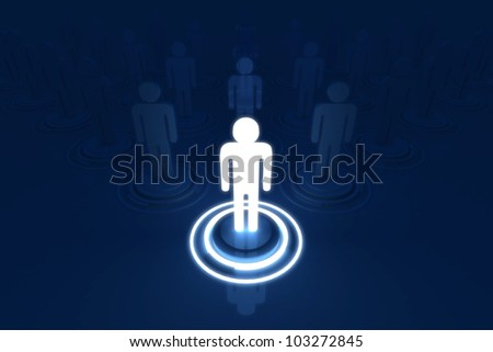Human 3D model Outstanding Light of Organization - stock photo