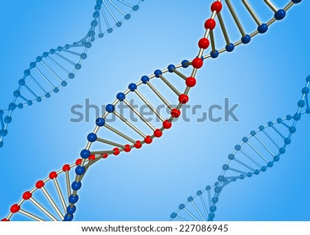 Human DNA molecule. Conditional model. - stock photo