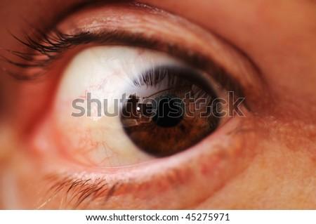Human eye, macro - stock photo