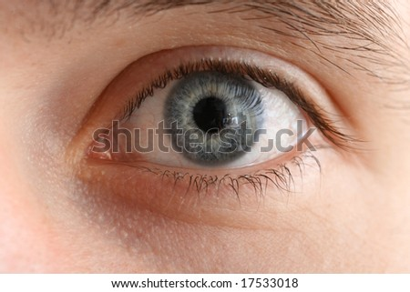 Human eye macro close-up - stock photo